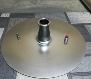 Крышка 3мм для куба 37 л с приваренным переходом с 2 на 1,5